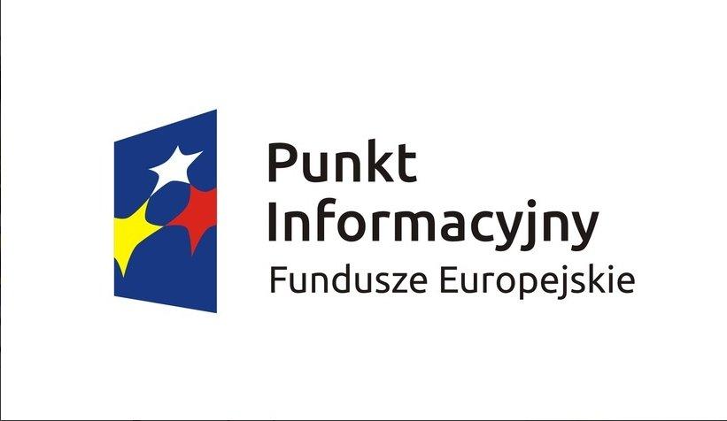Na zdjęciu widać logo Punktu Informacyjnego Funduszy Europejskich.