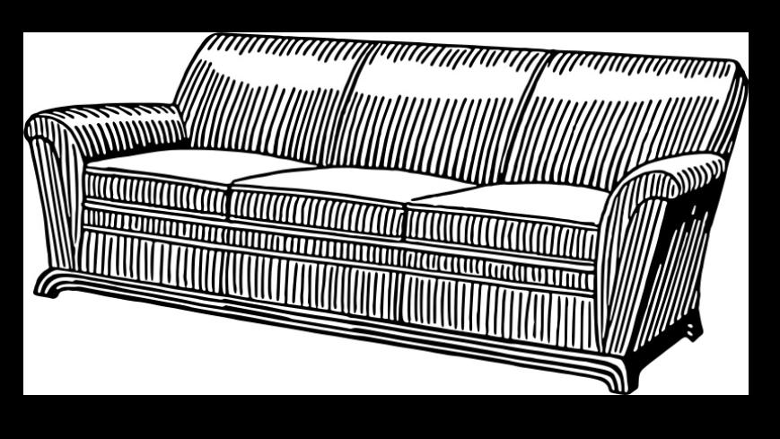 Zdjęcie dużej kanapy